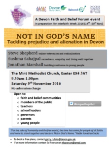 Not in God's name; tackling prejudice and alienation in Devon @ Mint Methodist Church